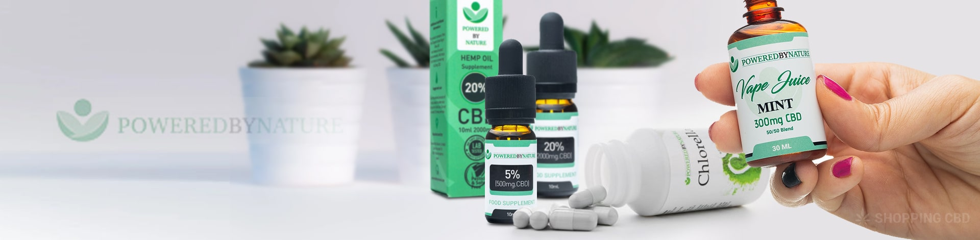 powered by nature CBD Vape Juices